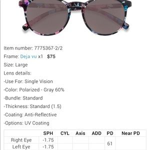 83b09ad79c0dd Eyebuydirect Accessories - Flower Sunglasses Eyebuydirect Deja Vu